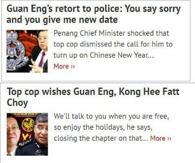 TARIKH SOAL SIASAT POLIS PUN TOKONG LIM GUAN ENG NAK POLITIK KAN