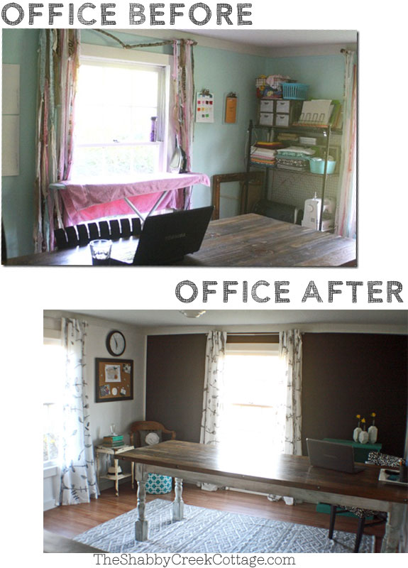 Black and White Home Office: Makeover Reveal