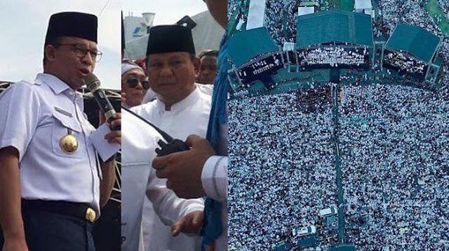 Prabowo dan Anies Hadiri Reuni 212, Prabowo