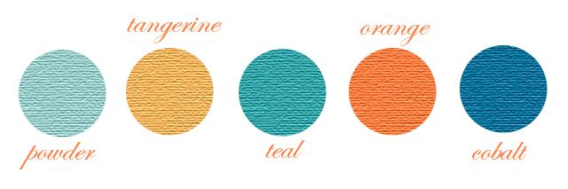 Peachy Keen Color Scheme Orange Blue