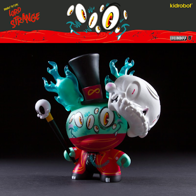 "Lord Strange Red Edition 8"" Dunny Vinyl Figure by Brandt Peters x Kidrobot"