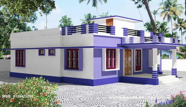 35 small and simple but beautiful house with roof deck for Second floor house plans indian pattern