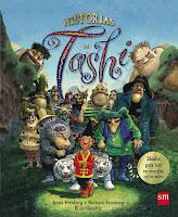 """Portada del libro """"Historias de Tashi"""", de Anna Fienberg, Barbara Fienberg y Kim Gamble"""