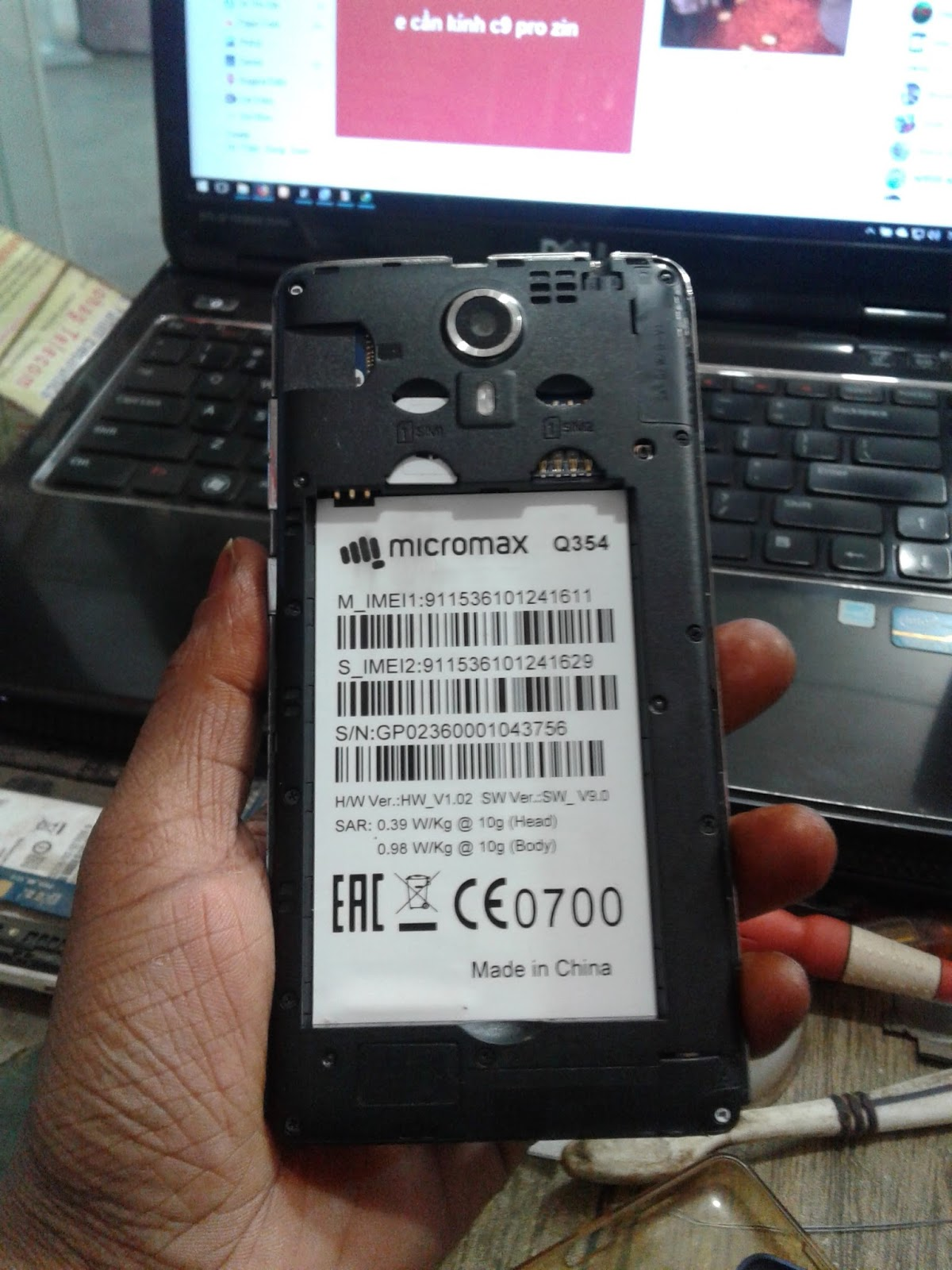 Micromax Q354 Firmware Flash File HW V1 02 SW_9 0 100% Tested By