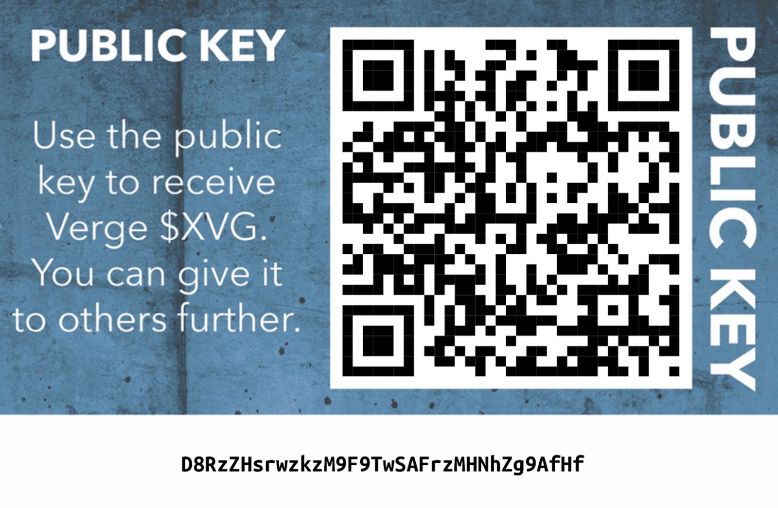 Com'è fatta una chiave pubblica Verge