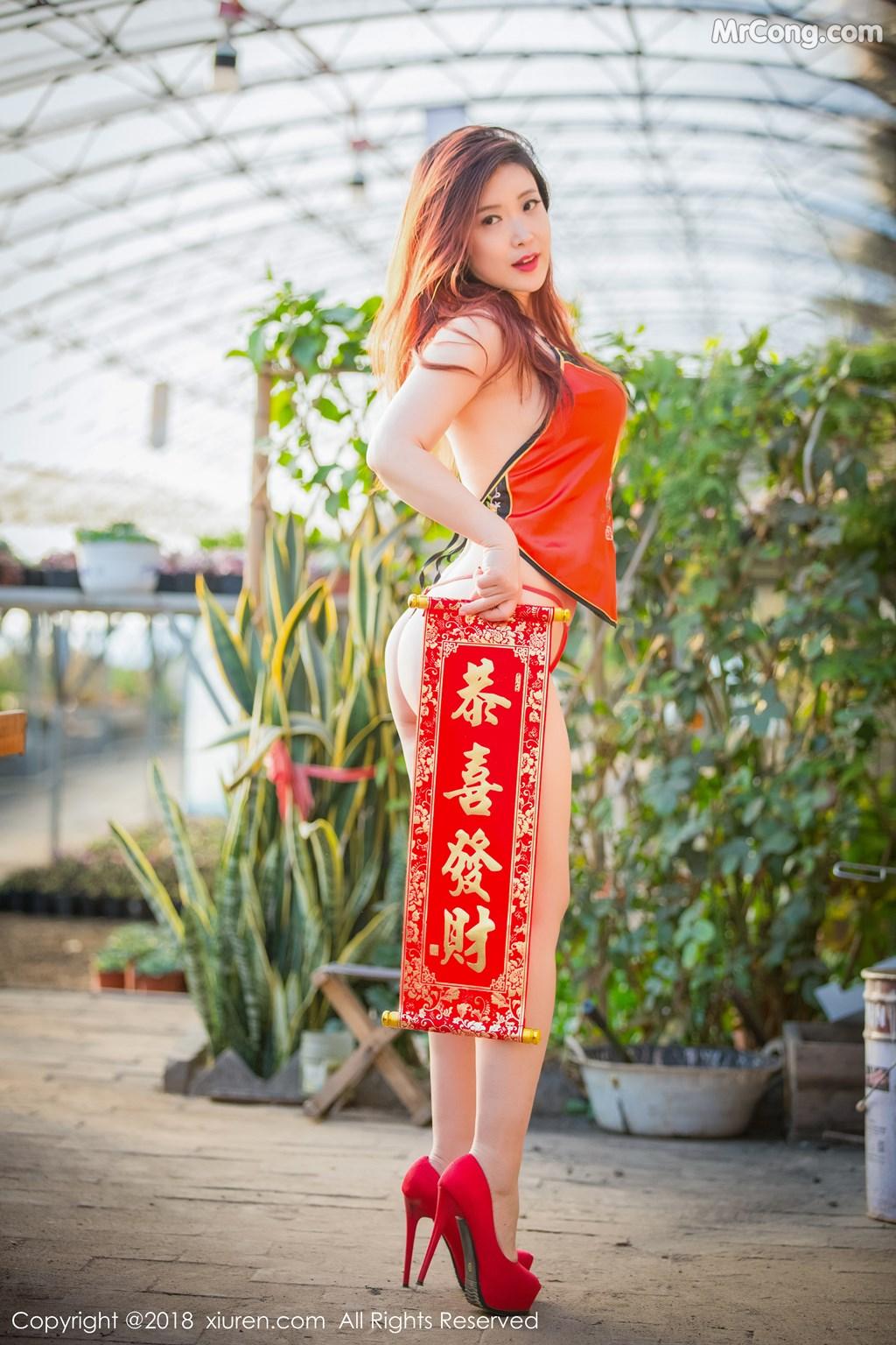 Image XIUREN-No.887-Xi-Xi-Bai-Tu-MrCong.com-011 in post XIUREN No.887: Người mẫu Xi Xi Bai Tu (西希白兔) (44 ảnh)