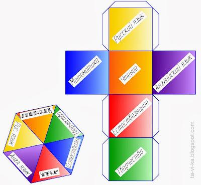 скачать шаблон кубика