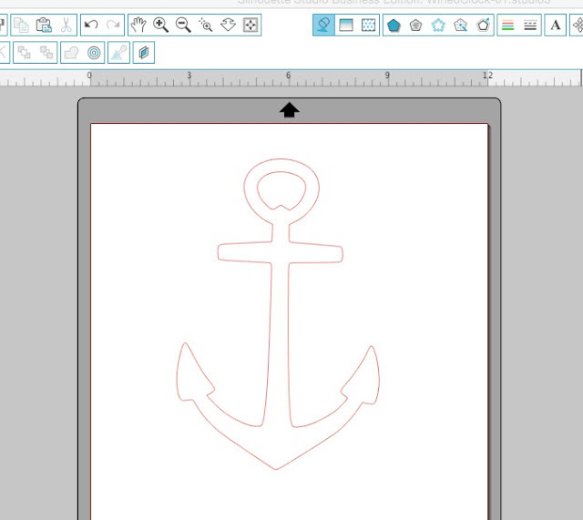 Silhouette Studio anchor design