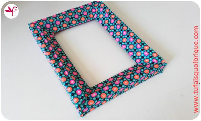 Cadre relooké tissu Petit Pan - Fée Poulette