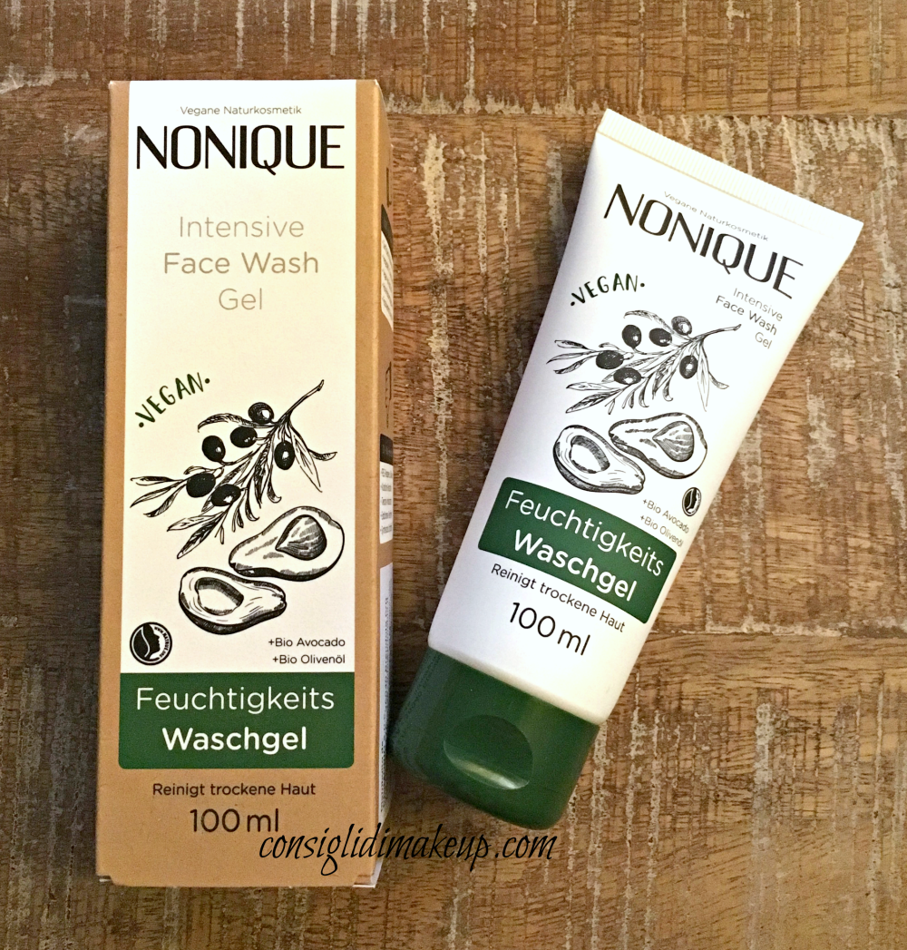 Intensive Face Wash Gel Nonique, gel detergente viso all'avocado