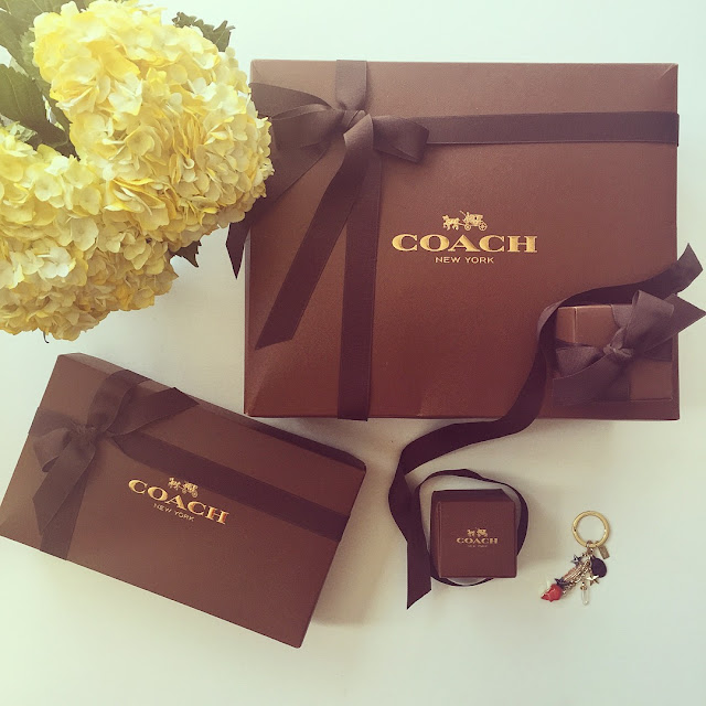 flower, coach swagger bag, coach gift box, fashion blog, coach