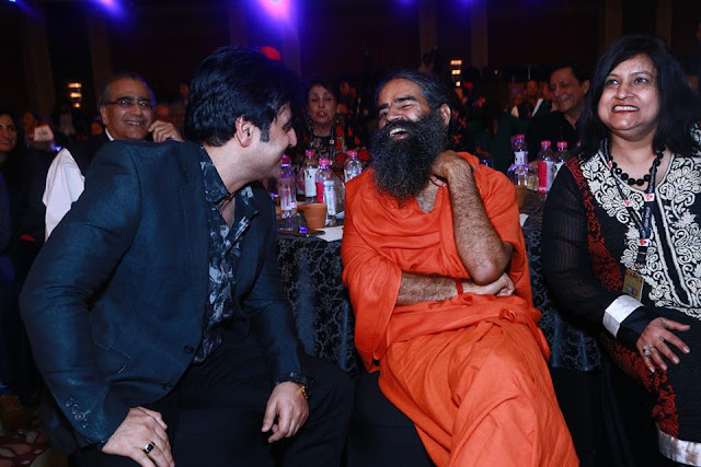 Dr Sanjeev Juneja sharing some moments with Yoga guru Baba Ramdev