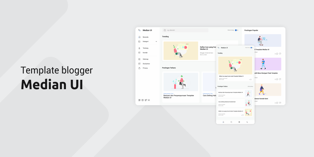 Download Template Blogger Responsive Median UI