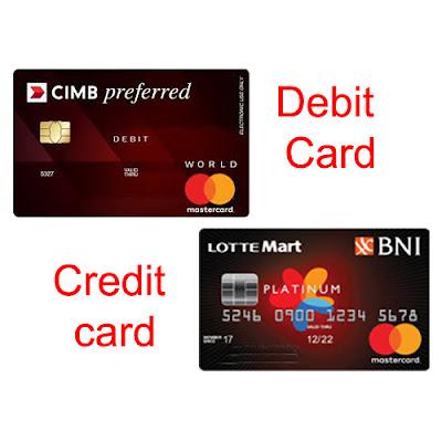 Perbedaan Kartu Debit dan Kartu Kredit