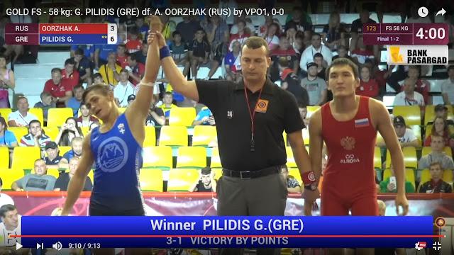 """«Χρυσός» """"τ' εμέτερον"""" ο Πιλίδης στο Ευρωπαϊκό πρωτάθλημα Παίδων (video)"""