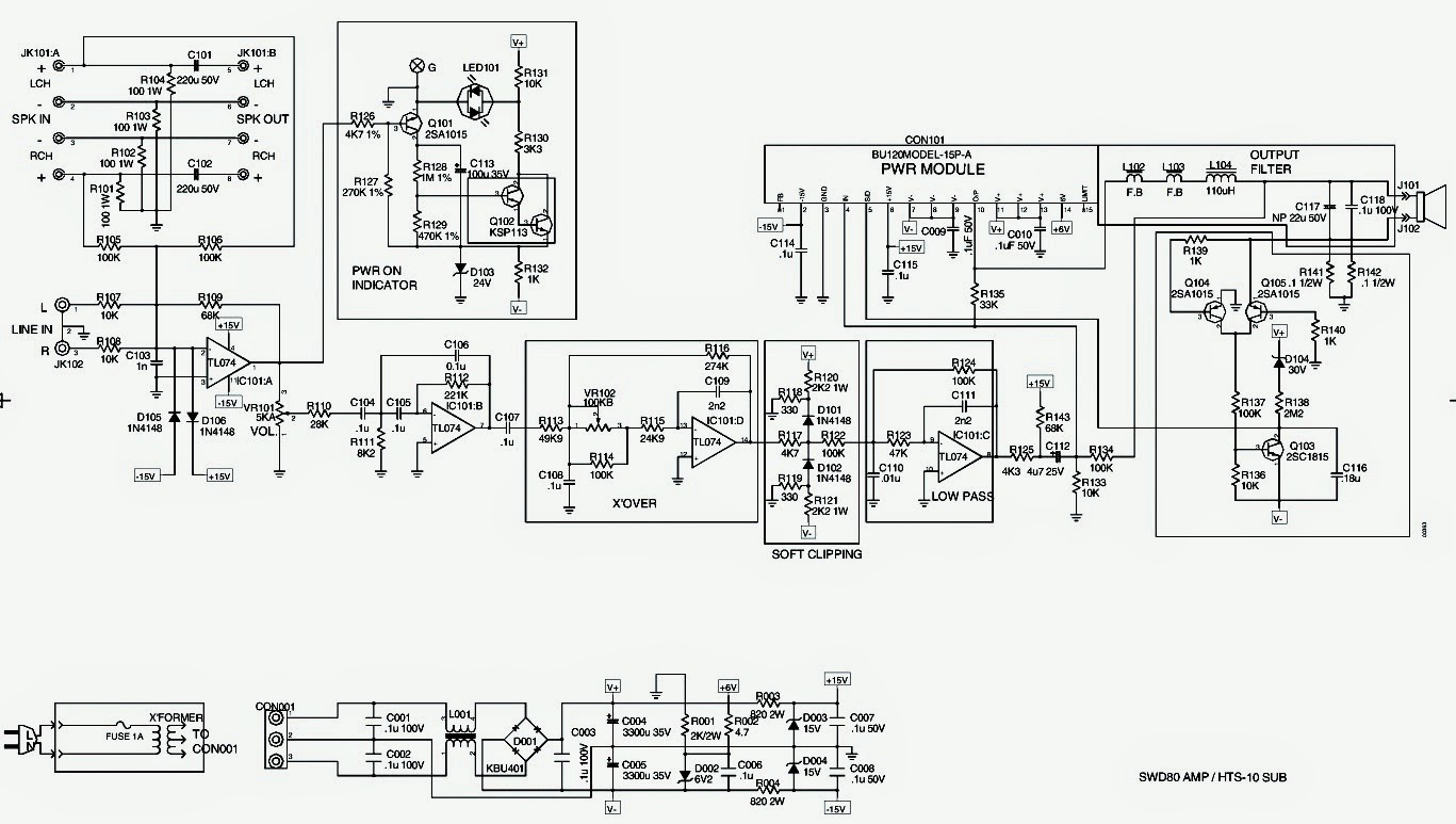 Infinity Bu 80 Hts 10 Powered Sub Woofer Schematic