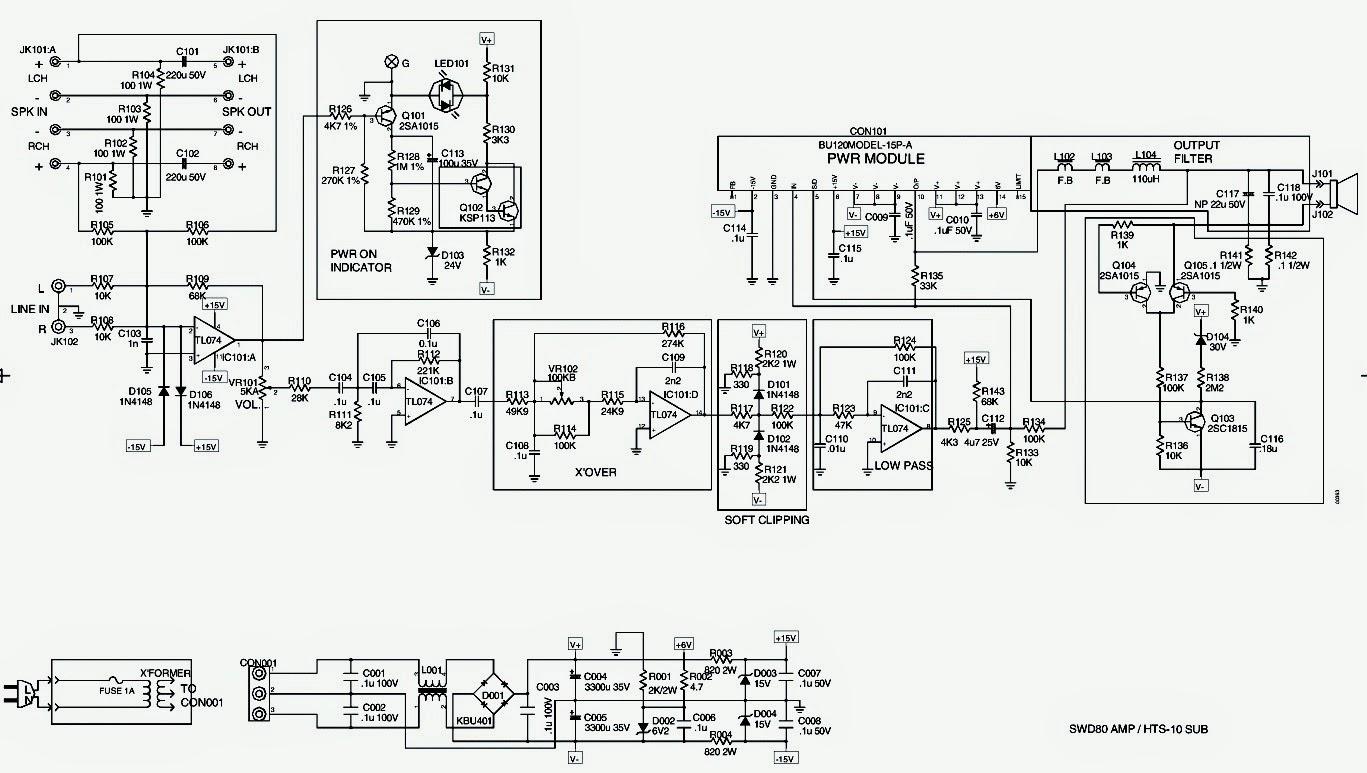 Infinity Bu 80 Hts 10 Powered Sub Woofer Schematic