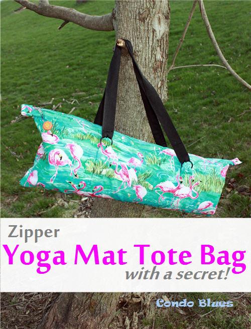 Condo Blues Zipper Yoga Mat Tote Bag Tutorial