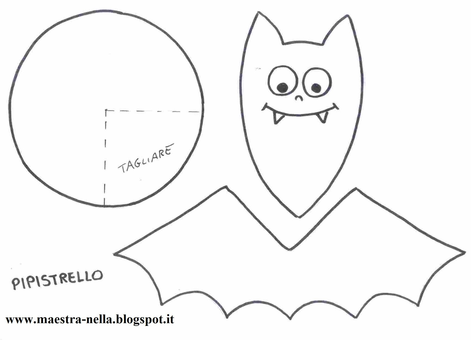 Pipistrelli Di Halloween Da Colorare.Pipistrello Da Colorare
