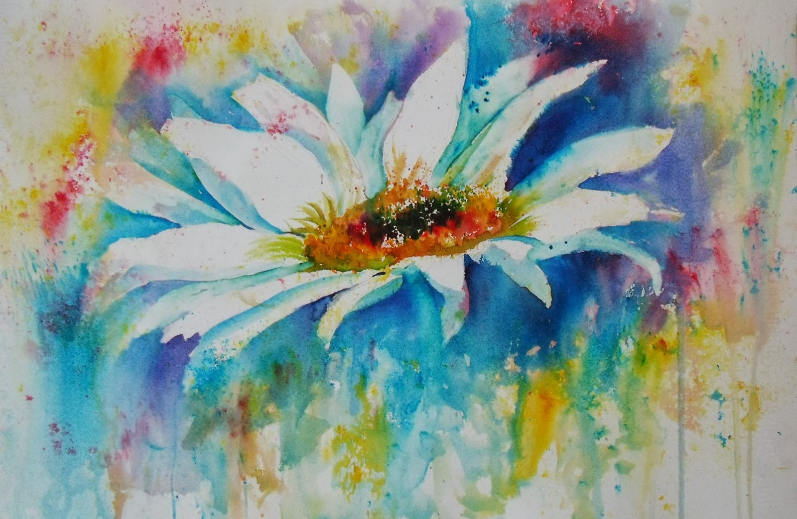 Artists: Art By Judith Farnworth: Brusho Paintings