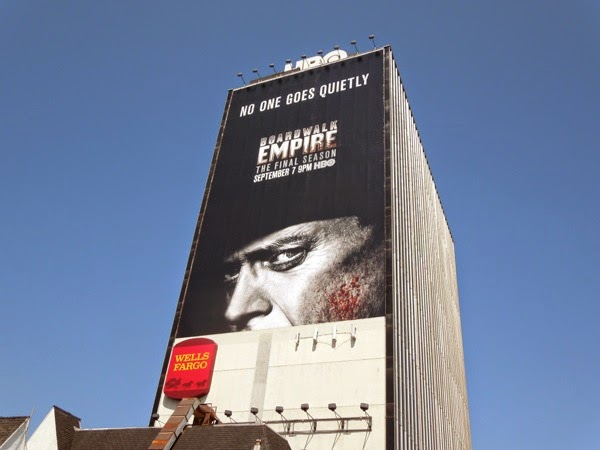 Boardwalk Empire final season No one goes quietly billboard