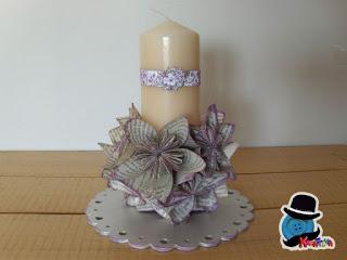 candela con origami