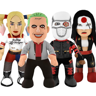 Suicide Squad Series 1 Bleacher Creatures Plush Figures - The Joker, Harley Quinn, Deadshot & Katana