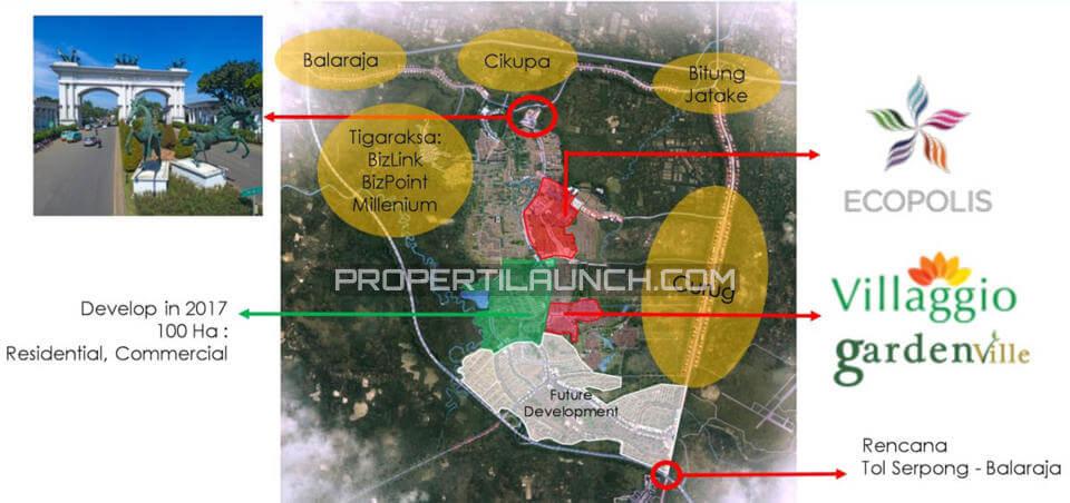 Peta Lokasi / Akses Menuju EcoPolis Apartemen EcoHome