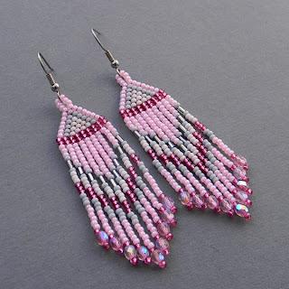 бисерные сережки украшения ручной работы