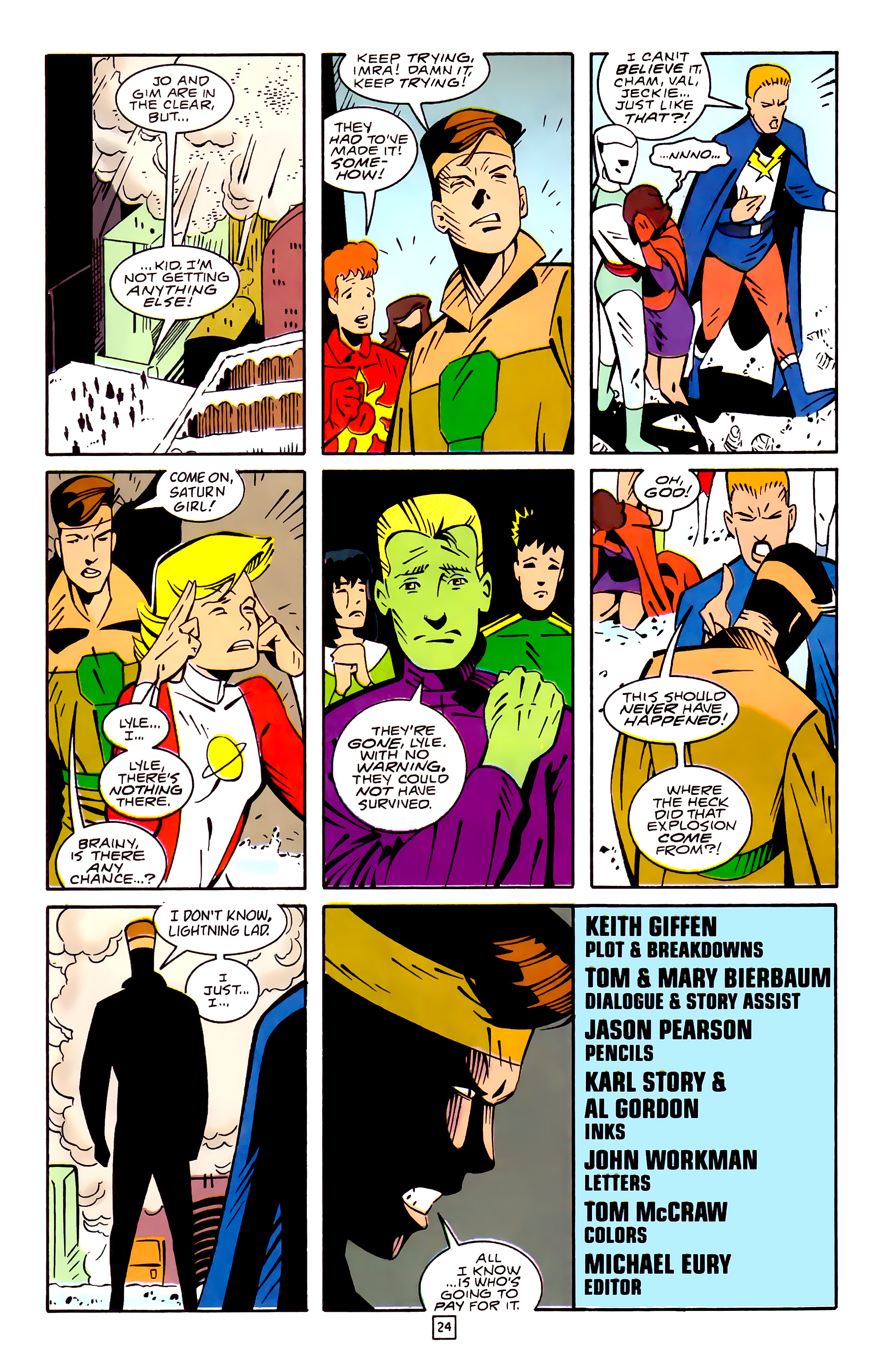 Legion of Super-Heroes (1989) 32 Page 24