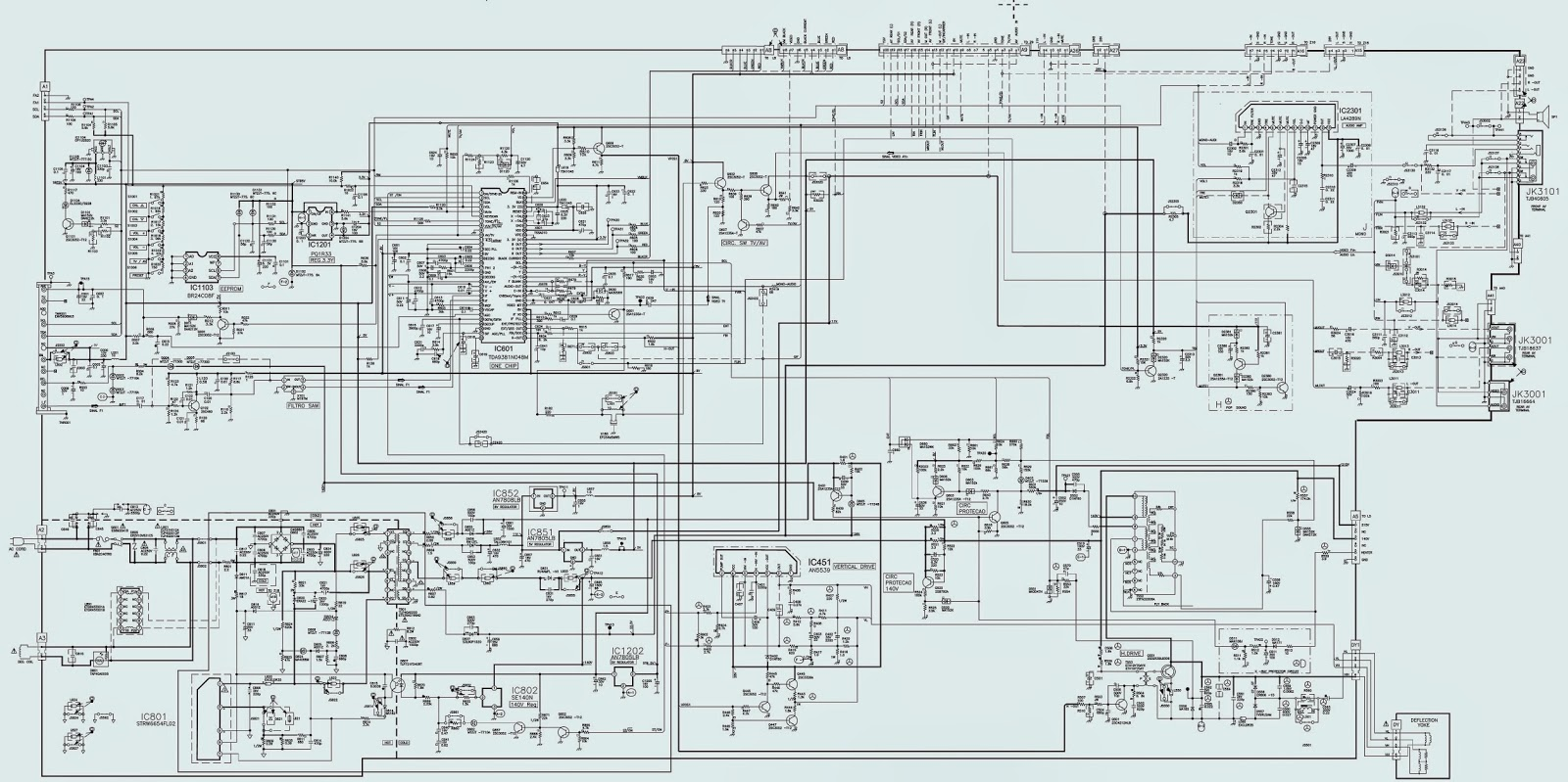 panasonic sophia tv schematic diagram