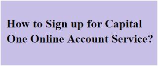 Capitalone.com online sign up