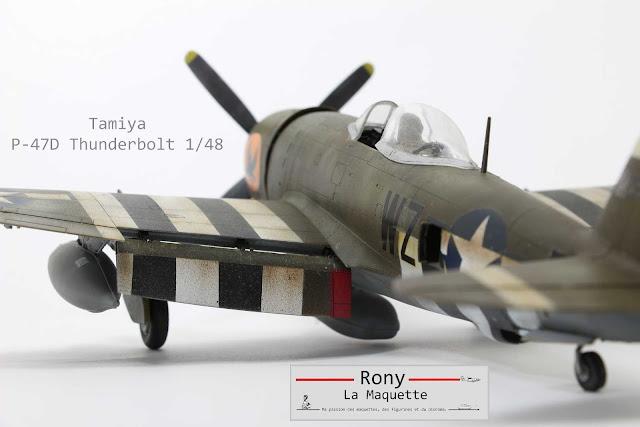 Maquette du P-47D Thunderbolt de Tamiya au 1/48.