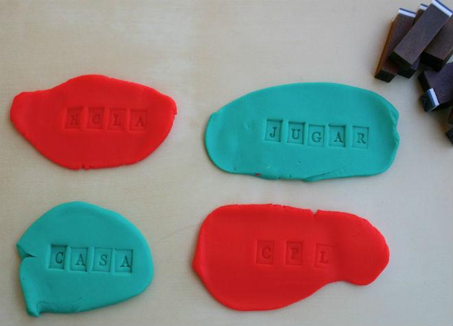 practicar habilidades pre-escritura y lectoescritura con plastilina