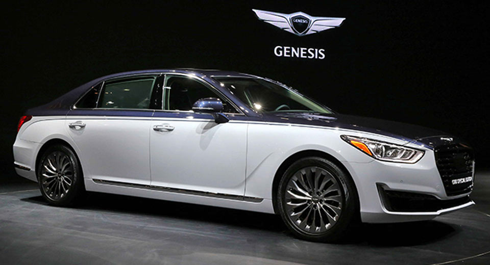 genesis g90 special edition looking more like a bentley. Black Bedroom Furniture Sets. Home Design Ideas