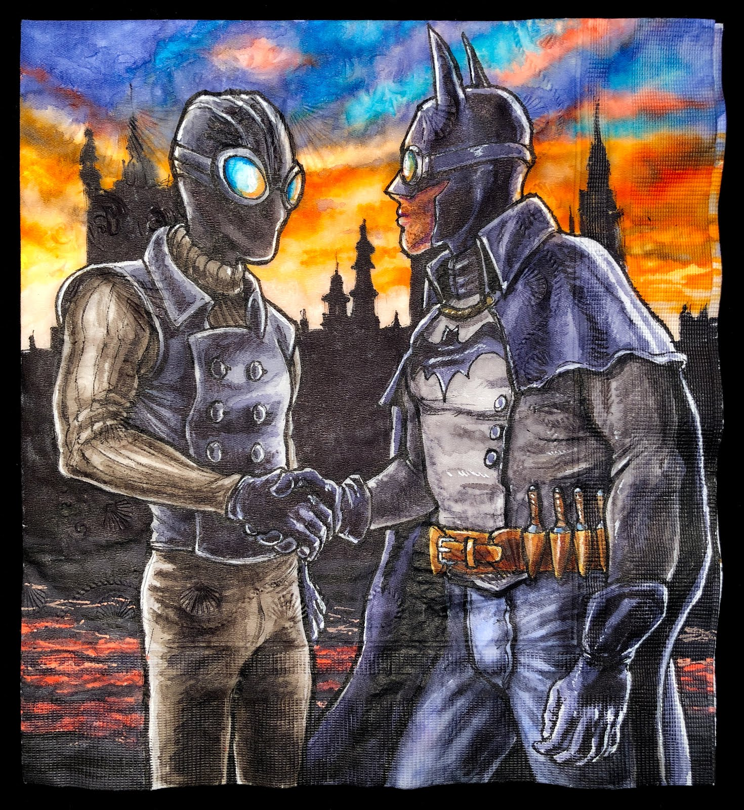 Daily Napkins Spider Man Noir And Gotham By Gaslight Batman
