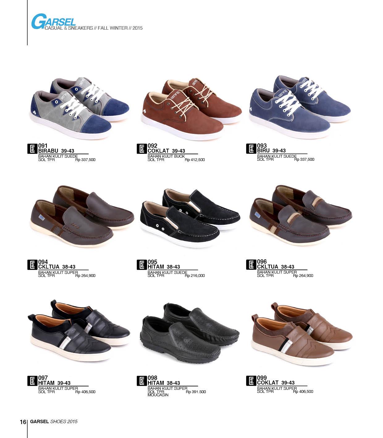 Katalog Terbaru Sepatu dan Sandal Garsel 2015-2016