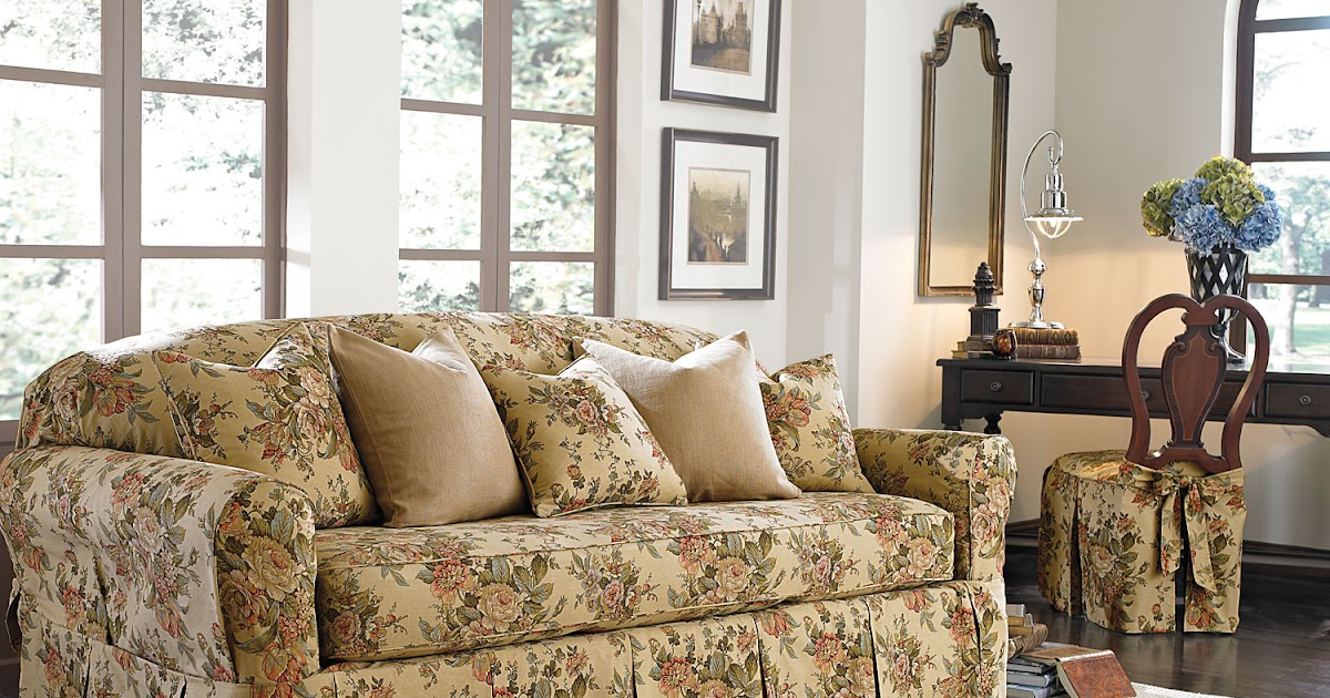 sure fit 2 piece t cushion sofa slipcover microfiber reclining and loveseat slipcovers: introducing bridgewater floral ...