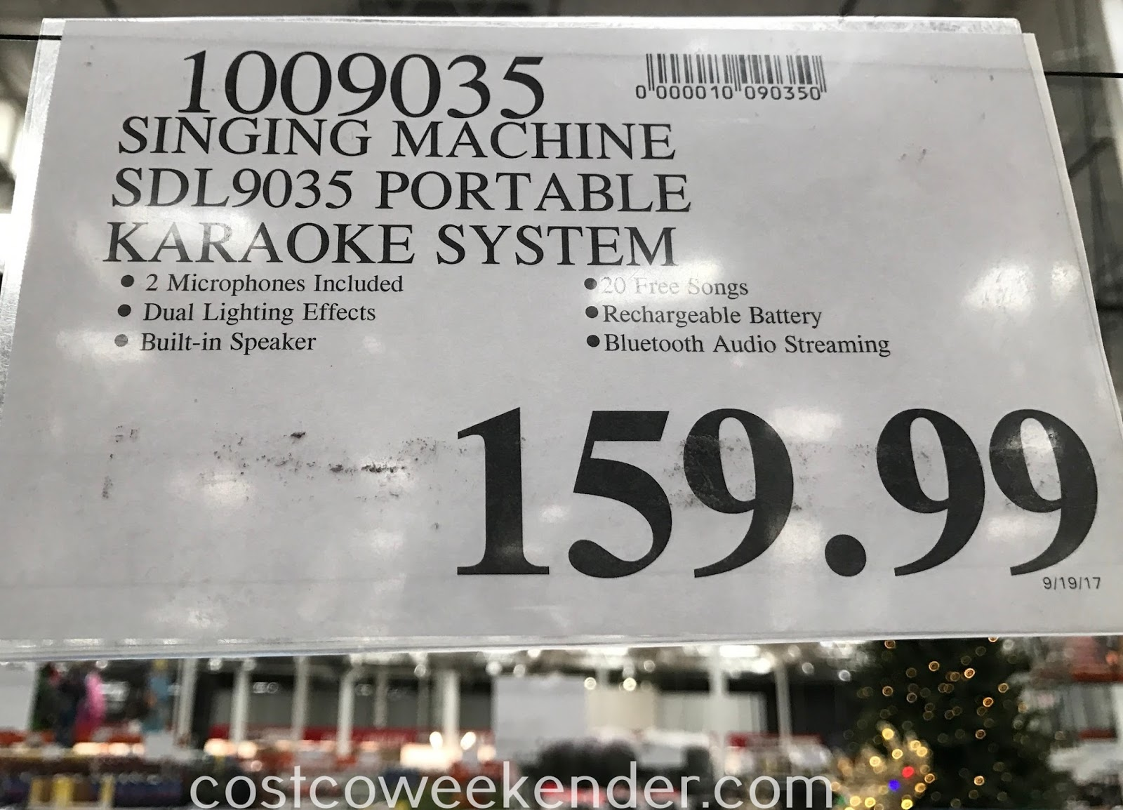 Deal for the Singing Machine Portable Hi-Def Karaoke System SDL9035 at Costco