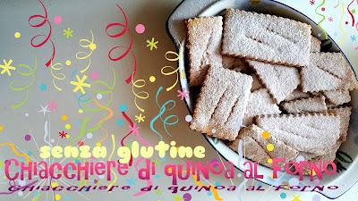 chiacchiere quinoa al forno gluten free