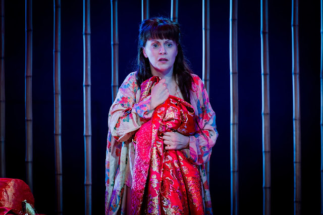 Anne Sophie Duprels as Iris in  Iris  at Opera Holland Park 2016. Photo Robert Workman
