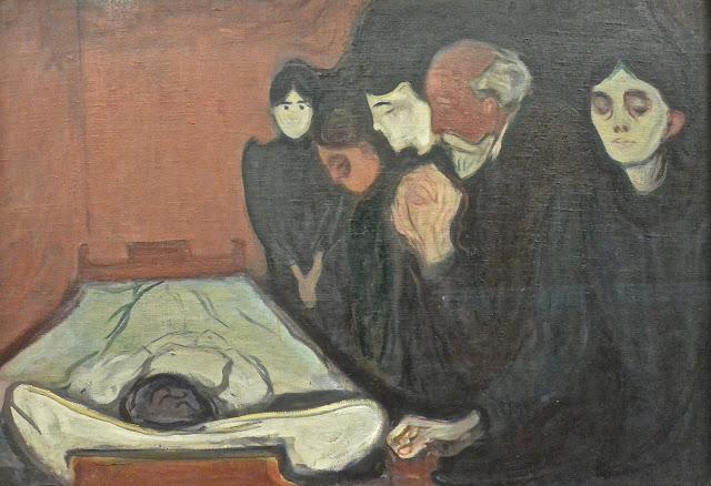 Bergen Musée des Beaux-Arts Bergen kunstmuseum Edvard Munch  : Au chevet de la morte (1895)