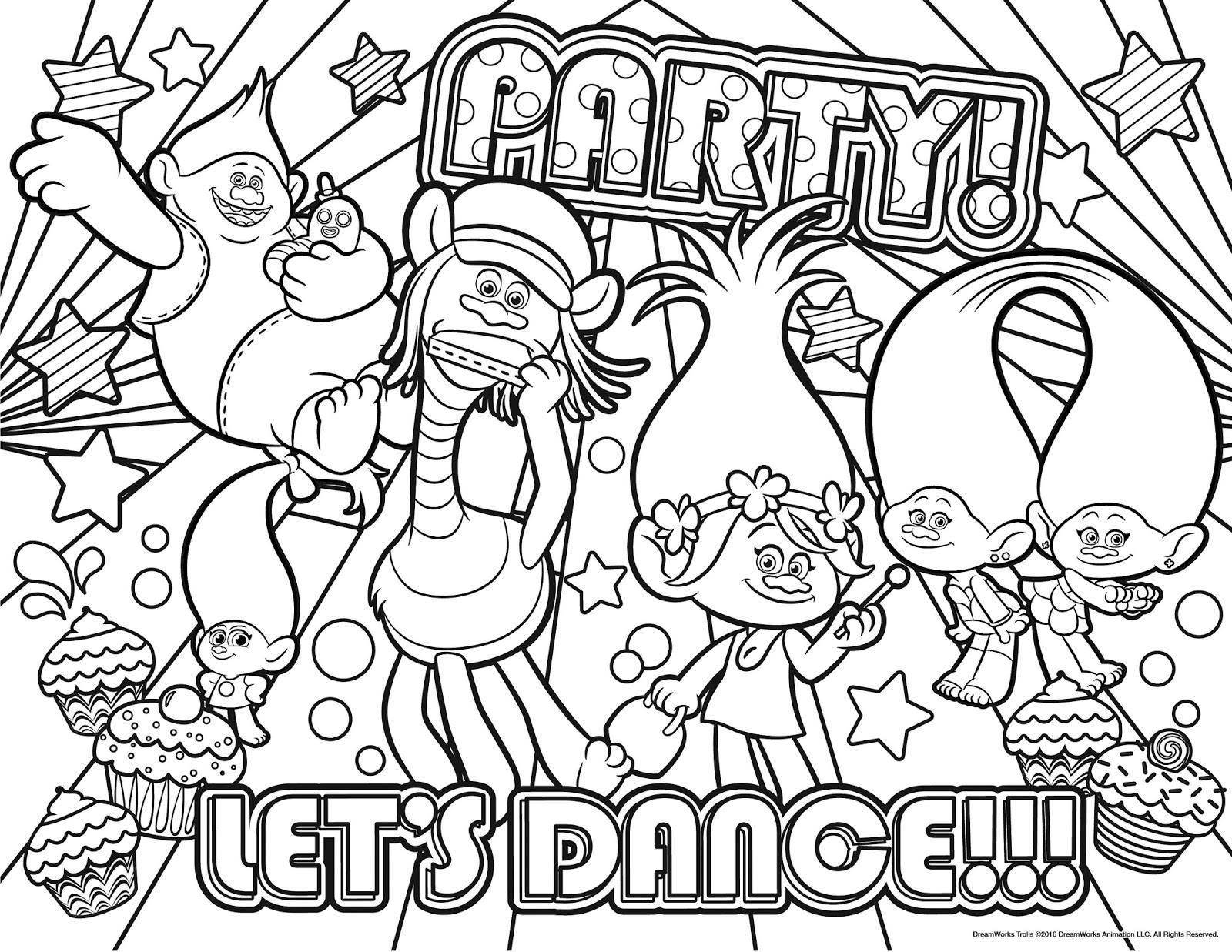 ba u00fa da web  trolls desenhos para pintar