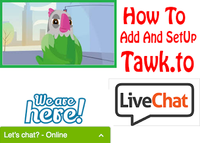 how to add and setup tawk.to live chat