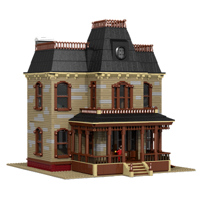 Rendered image of Bates Mansion, version 3.0.