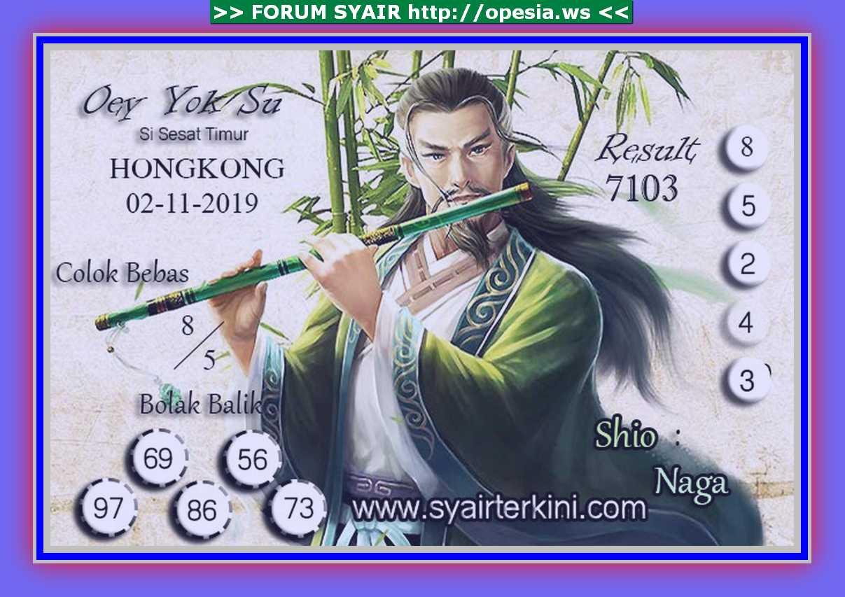 Kode syair Hongkong Sabtu 2 November 2019 36