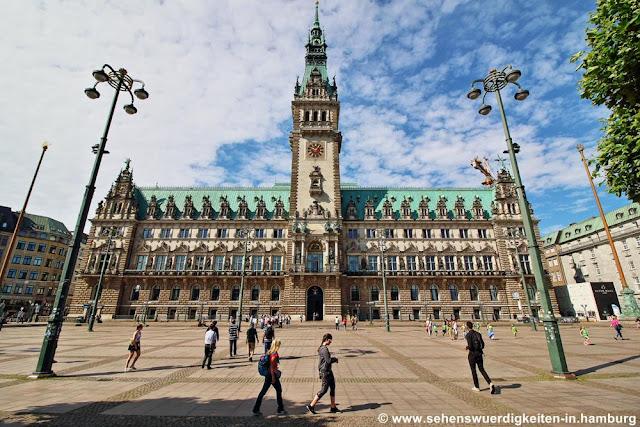 Hamburg Rathaus, Rathausmarkt Hamburg