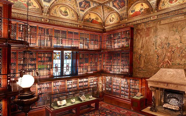 Tarde no museu e biblioteca Morgan em Nova York