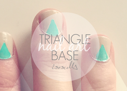 Triangle base nail art header