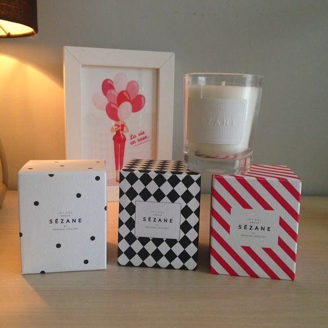 trio candle sézane french lifestyle